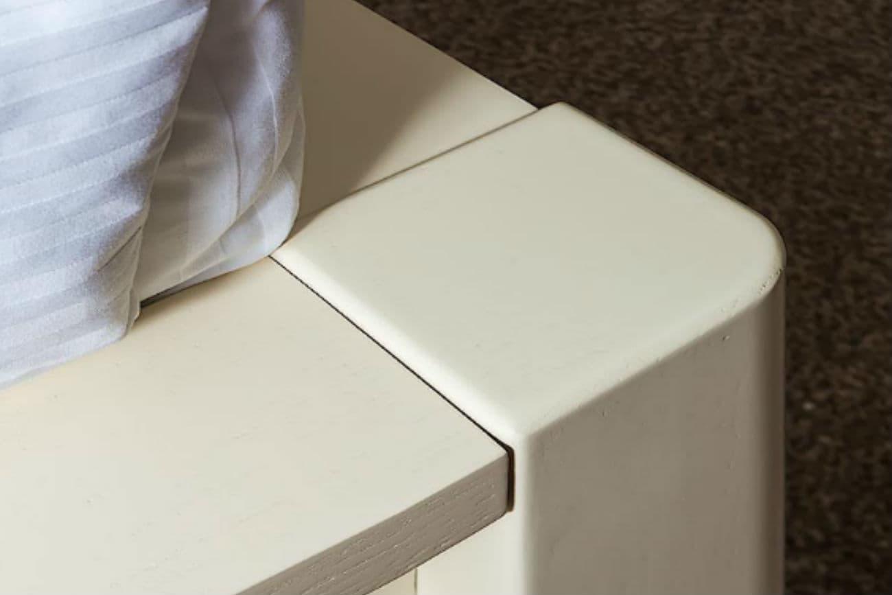 Fuß des anderthalbfachen Betts «Karina», Ivory mit Gold