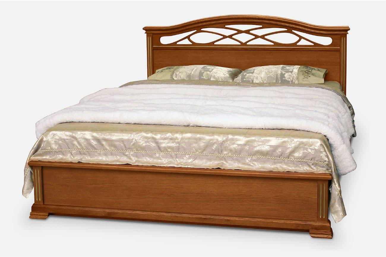 DurchRowan Bett mit Hubmechanismus «Victoria», die Farbe des dunklen Erlen