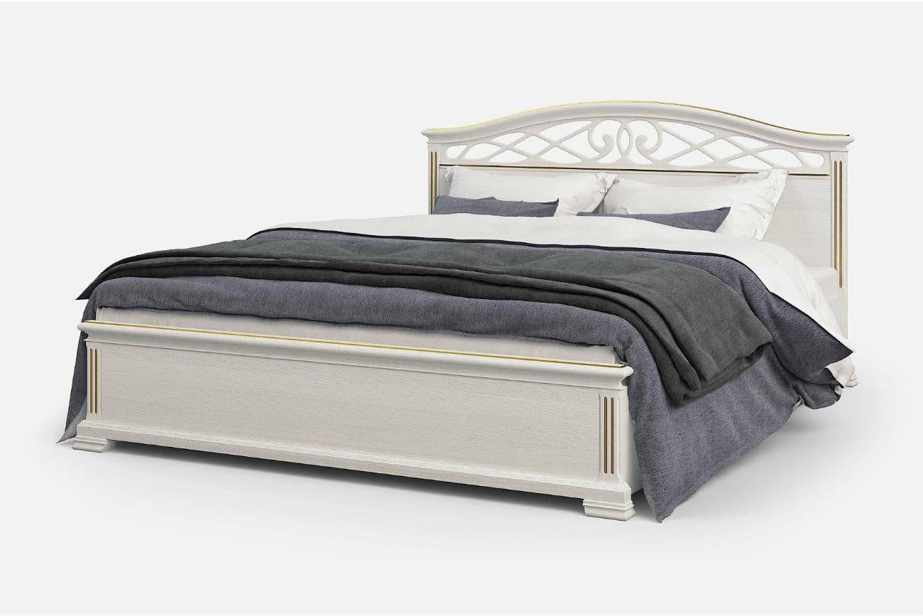 Bett «Victoria» eineinhalb, weiße Emailfarbe