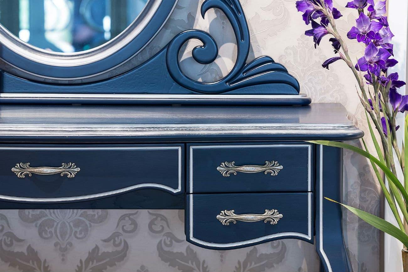 Frisiertisch «Athene» mit Tischspiegel (Schubladen und Spiegelgestell)