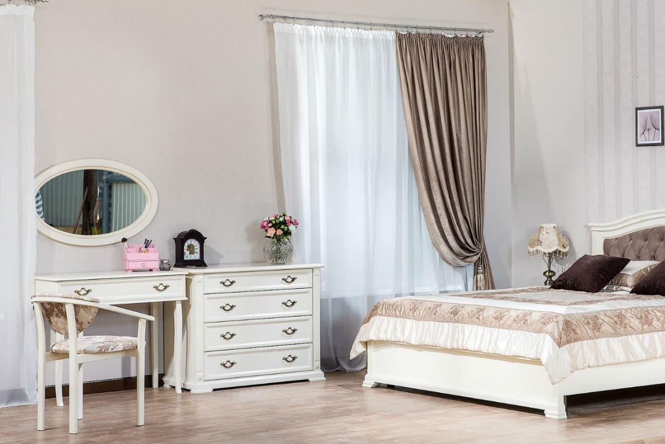 Frisiertisch und Kommode «Viktoria», Bett «Helena»